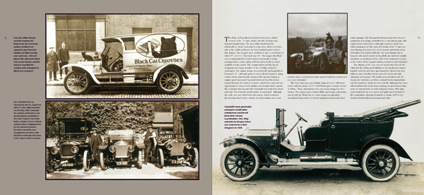 First spread illustration from Vauxhall Cars 1903-1918, Book 1, Building the Power