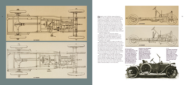 Second spread illustration from Vauxhall Cars 1903-1918, Book 1, Building the Power