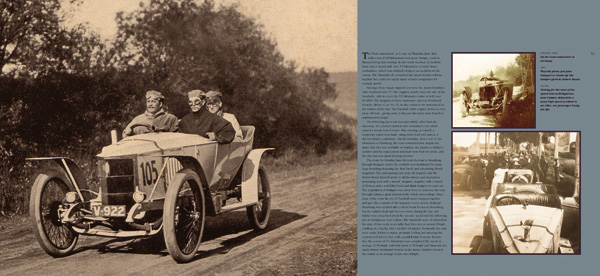 First spread illustration from Vauxhall Cars 1903-1918, Book 2, Claiming the Rewards